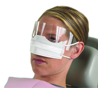 Box 25 Safety Loop With Patient Mask Crosstex Of Shield Pleated Face Ear White