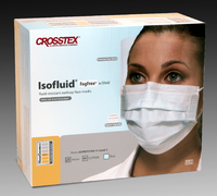 Pleated Shield Fog-free Of Ear With Face Loop Turquoise Surgical Box 25 Isofluid® Mask
